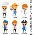 Cartoon characters with different profession 24896436