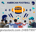 American Football Competition Game Goal Play Concept 24897997