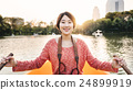 Girl Adventure Boat Trip Traveling Holiday Photography Concept 24899919