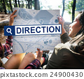 City Map Destination Route Way Route Concept 24900430