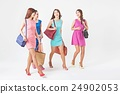 shopping, white background, female 24902053
