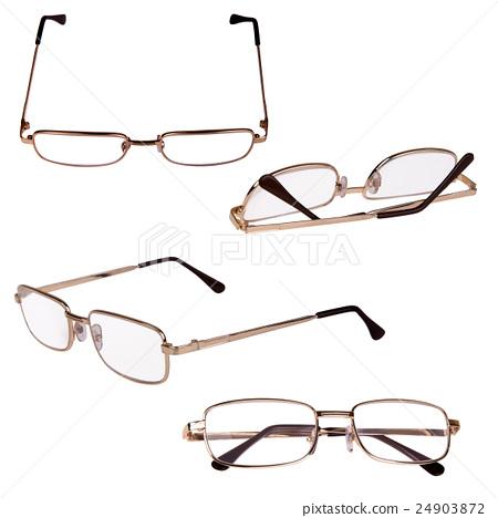 glasses in metal frame 24903872