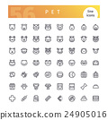 Pet Line Icons Set 24905016