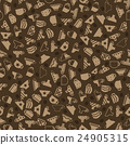 Set of Coffee Cups Seamless Pattern 24905315