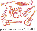 Music instruments doodles 24905840