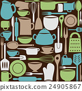 Kitchen utensils seamless pattern 24905867