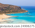 View of the beautiful beach in Balos Lagoon, Crete 24906275