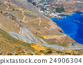 curvy road near Chora Sfakion town on Crete 24906304