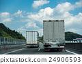 신 토메이 고속도로를 주행중 인 트럭 24906593