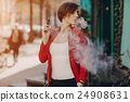 girl with the electronic cigarette 24908631