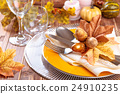 Thanksgiving dinner decoration. 24910235