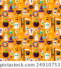 Halloween Holiday Seamless Background 24910753