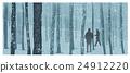 冬天 冬 森林 24912220