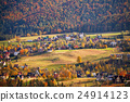 Sunny day in mountain village. Autumn in Poland 24914123