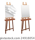 Wooden easel on a white background 24916054