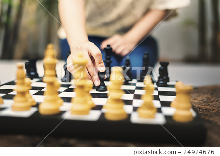 Chess Game Thinking Hobbies Leisure Concept 24924676