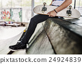 Skateboard Extreme Sport Skater Park Recreational Activity Concept 24924839