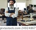 Carpenter Craftmanship Carpentry Handicraft Wooden Workshop Concept 24924867