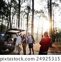 People Friendship Hangout Traveling Destination Camping Concept 24925315
