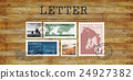 Airmail Mail Postcard Letter Stamp Concept 24927382