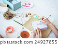 Writing Message On Present Package Decorations Concept 24927855