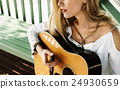 female, guitar, music 24930659