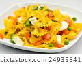 Italian pasta with mozzarella cheese 24935841