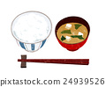 進餐 米飯 水稻 24939526