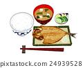 稻米 日本鹹菜 烤魚 24939528