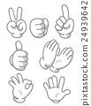Hand Mascot Signs 24939642
