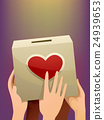 Hands Donation Box Heart 24939653