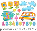 Back To School Sticker Elements 24939717