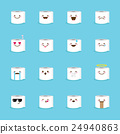 Vector toilet paper emoji set. Funny emoticons. 24940863