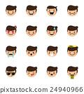 Vector boy emoticons collection. Cute kid emoji 24940966