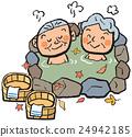 外部露天池 年長的夫婦 年長夫婦 24942185