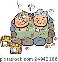 外部露天池 年長的夫婦 年長夫婦 24942186