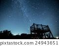 天文台和銀河在冬天 24943651