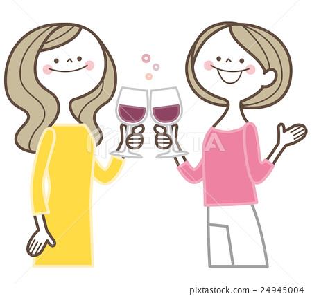 矢量 葡萄酒 红酒 24945004