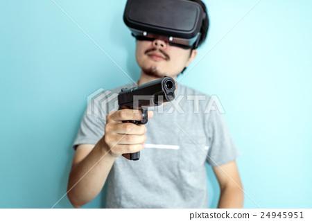 VR, men with guns - Stock Photo [24945951] - PIXTA