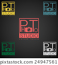 Photo studio logo mock up dark sample text 24947561