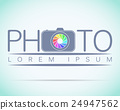 Photo studio logo mock up Light sample text  24947562