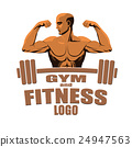 Fitness gym logo tamplate with bodybuilder 24947563