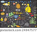 Autumn season set. Hand drawn doodles 24947577