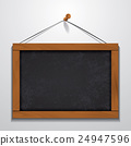 Chalkboard wood frame hanging on wall 24947596