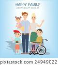 family, vector, portrait 24949022