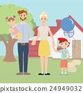 family, vector, portrait 24949032