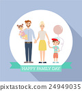 family, vector, portrait 24949035