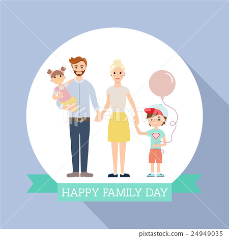 Modern family with children flat design 24949035