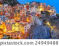 Night Manarola, Cinque Terre, Liguria, Italy 24949488