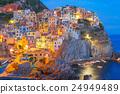 Night Manarola, Cinque Terre, Liguria, Italy 24949489